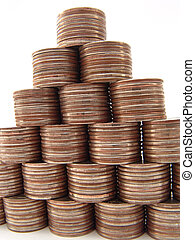 Finance Pyramide - There are 210 coins in this pyramide