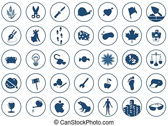 Icons 2 - 35 Various Icons on white background. Each icon is...