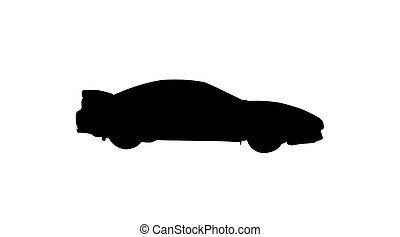 isolated sport car - sport car with clipping path