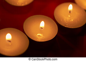 candlelights in close up - candlelights