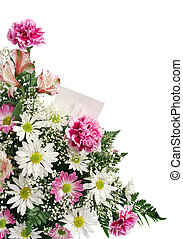 Flower Border Gift Card - A vertical flower border with a...