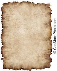 Parchment 6 - Old torn list of parchment, antique background...
