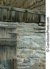 barn wall - beautiful stone wall of barn