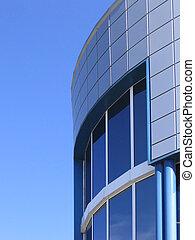Corporate building - Modern corporate building over blue sky