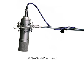 microphone on tripod