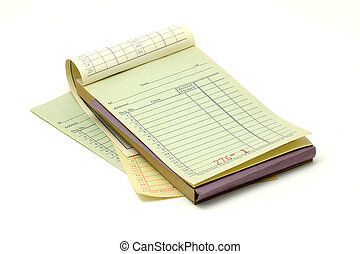 Receipt Book - Photo of a Receipt Book