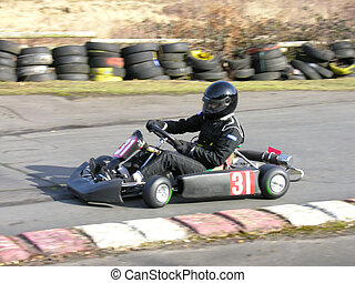 Black Go Kart - A racing black go kart