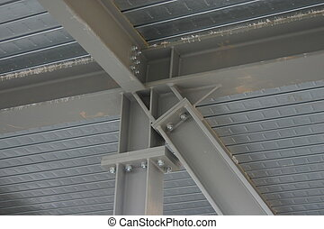 Steel building - Structural steel building frame