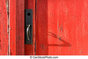 Behind the Red Door - Photo of a Red Door