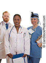 Hospital Staff - Three medical or hospital staff.