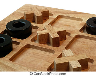 tic tac toe - wooden tic tac toe game