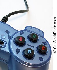 video game control - blue video game controller