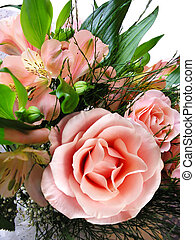 Bouquet, Pink Roses - Luxurious Wedding Bouquet, Pink Roses