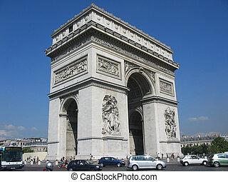 Arc de Triomphe - The Arc de Triomphe, one of Paris...