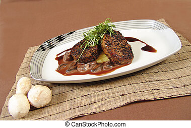 Pork tenerloin steak - Peppered pork tenderloin medallions...