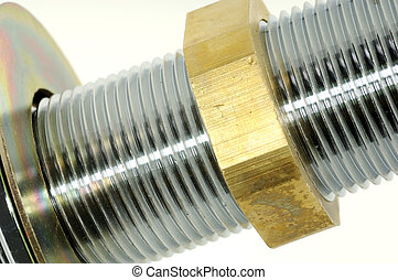 Plumbing Fitting - Abstract Photo of a Threaded Pipe and...