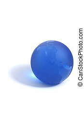 Blue Globe - Blue globe paperweight isolation