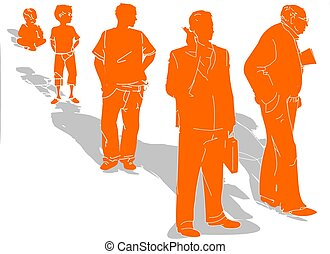 Mans life evolution - An illustration about changing in...