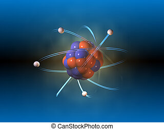 Atom structure. CG illustration.