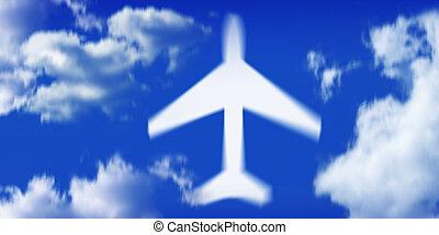 avião, movimento