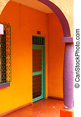Colorful Entryway in Cali, Colombia