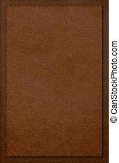 vermelho, couro, livro, cobertura