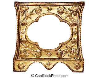 Golden Picture Frame - Small ornamented empty picture frame...