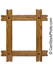 Rustic Picture Frame - Nailed wooden picture frame to put...