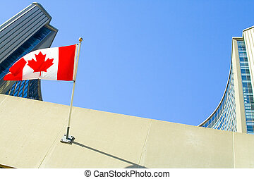 City Hall - Toronto City Hall Buildings, Canadian Flag