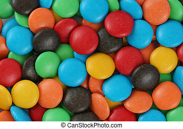 Chocolate Candy - Colorful candy covered chocolate
