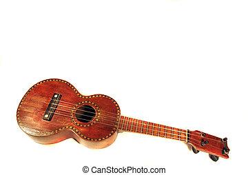 Ukulele - antique ukulele with decorative inlay