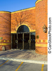 Entrance - red brick building, office