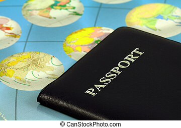 Travel passport - Travel with passport and map
