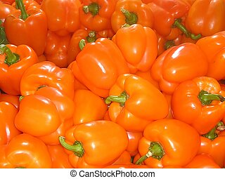 Red hot - Orange Capsicum peppers