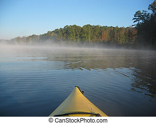 early morning kayak - calm water kayaking