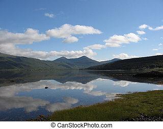 Loch Scridain, Mull - Reflections in Loch Scridain, Mull