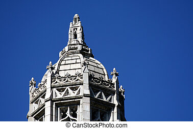 Old building and blue sky