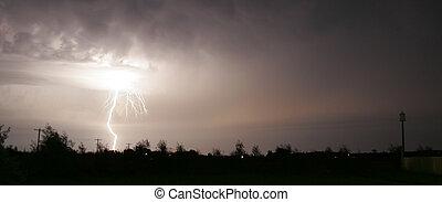 Lightning - A single bolt of lightning
