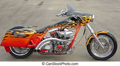 hot motorcycle - bike