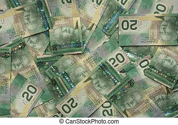 money 028 bill lot of cad