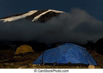 kilimanjaro 019 karango camp tent night view