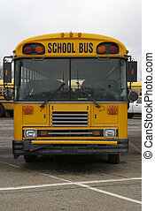 School Bus - Front View of a School Bus
