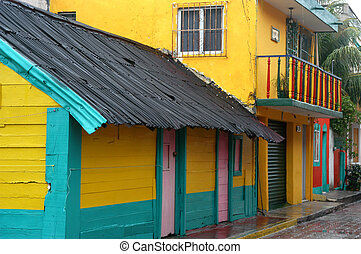Colorful Building - Colorful home in isla mujeres, Mexico