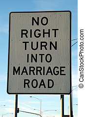 Marriage Road Sign - Humorous Sign in Melbourne, Australia