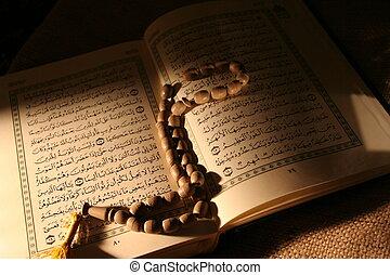 abierto, acebo, Corán
