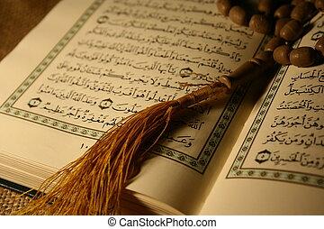 acebo, Corán, y, rosar