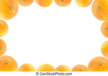 high resolution frame decorated with orange fruits