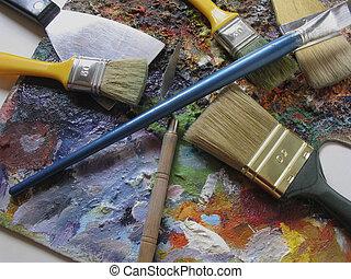 τέχνη, εργαλεία
