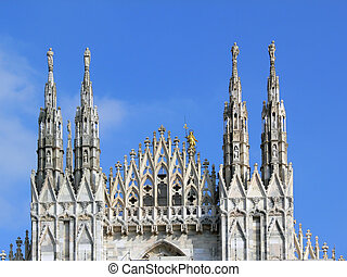 milan_dome04 - particular of Milan\\\'s cathedral
