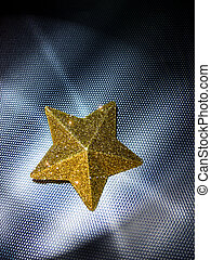 Starlight - Yellow Star on steel background